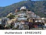 positano in italy | Shutterstock . vector #694814692