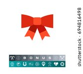 red bow icon | Shutterstock .eps vector #694816498