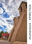 Small photo of /Old adobe church/Old adobe church in Taos, New Mexico