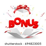 bonus out of the box | Shutterstock .eps vector #694823005