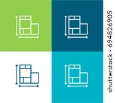 house plan scale green and blue ...
