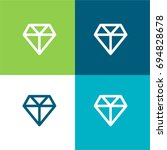 diamond green and blue material ... | Shutterstock .eps vector #694828678