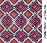 retro colors tribal vector...   Shutterstock .eps vector #694839532