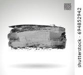grey brush stroke and texture.... | Shutterstock .eps vector #694852942