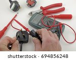 earth continuity testing   an... | Shutterstock . vector #694856248