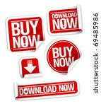 buy now  download now online... | Shutterstock .eps vector #69485986