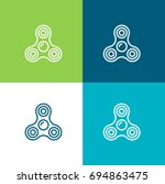 spinner green and blue material ...