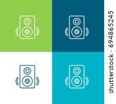 speaker green and blue material ...   Shutterstock .eps vector #694865245