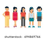 vector group of different types ... | Shutterstock .eps vector #694869766