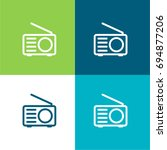 radio green and blue material...