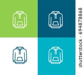 hoodie green and blue material...