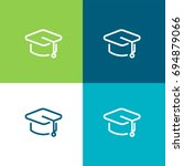 mortarboard green and blue... | Shutterstock .eps vector #694879066