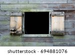Rustic Open Window With...