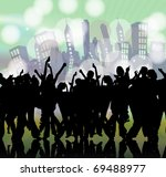 urban event background