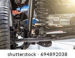 front axle with suspension and... | Shutterstock . vector #694892038