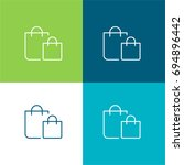 shopping bag green and blue...