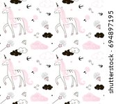 unicorn pattern | Shutterstock .eps vector #694897195