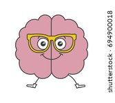 brain storming with glasses... | Shutterstock .eps vector #694900018