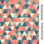 texture of colored triangles... | Shutterstock . vector #694900936