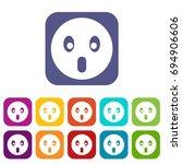 frightened emoticons set ... | Shutterstock . vector #694906606