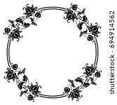 black and white silhouette... | Shutterstock .eps vector #694914562