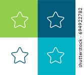 star green and blue material...