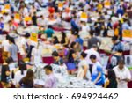 abstract blur people shopping... | Shutterstock . vector #694924462