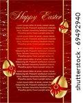 decorative easter eggs.... | Shutterstock .eps vector #69492940