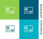 credit card green and blue...