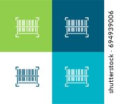 barcode green and blue material ...