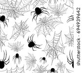 halloween seamless pattern with ... | Shutterstock .eps vector #694939642