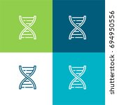 dna structure green and blue... | Shutterstock .eps vector #694950556