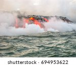 kilauea volcano  also kilauea... | Shutterstock . vector #694953622