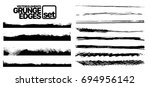 set of grunge and ink stroke... | Shutterstock .eps vector #694956142