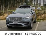 Small photo of August 10, 2017 San Francisco/CA/USA - Uber self-driving cars have been allowed to run tests in San Francisco starting with March