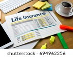 life insurance medical concept... | Shutterstock . vector #694962256