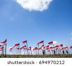 indonesia  independence day and ... | Shutterstock . vector #694970212