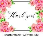 vintage delicate invitation... | Shutterstock . vector #694981732