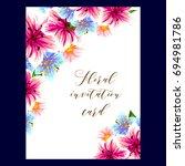 vintage delicate invitation... | Shutterstock . vector #694981786