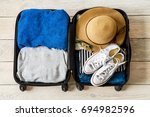 travel tourism objects isolated ... | Shutterstock . vector #694982596