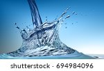 pouring water and splash. water ... | Shutterstock . vector #694984096