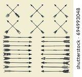 vintage arrow collection | Shutterstock .eps vector #694993048