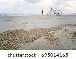 on the beach | Shutterstock . vector #695014165