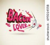 megaphone with typographic ... | Shutterstock .eps vector #695014558