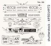 vintage elements for design | Shutterstock .eps vector #695014972