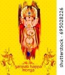 illustration of lord ganpati... | Shutterstock .eps vector #695028226