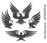 Heraldry Eagles  Hawks And...