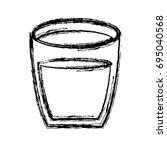 juice glass icon   Shutterstock .eps vector #695040568