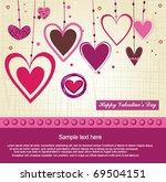 valentine background | Shutterstock .eps vector #69504151