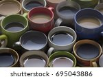 coffee time   lots of coffee... | Shutterstock . vector #695043886